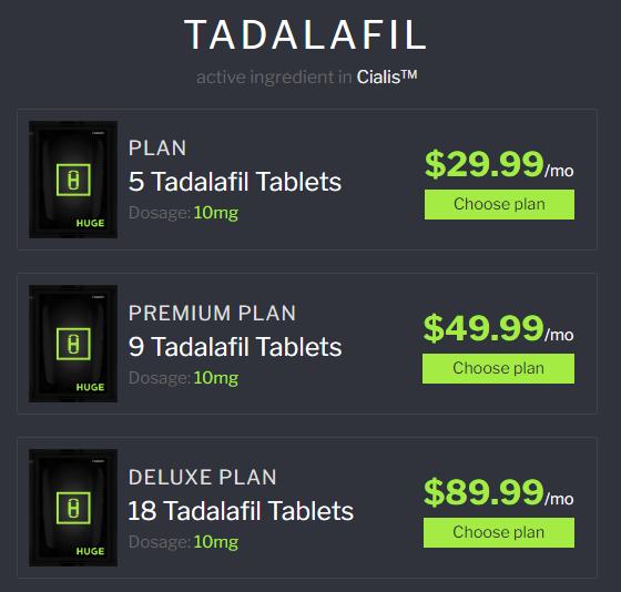 huge tadalafil plans